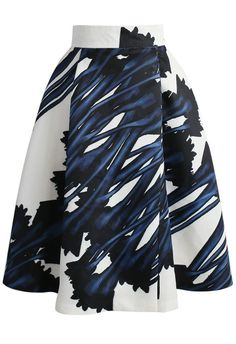 Abstract Watercolor Printed A-line Skirt - New Arrivals - Retro, Indie and Unique Fashion