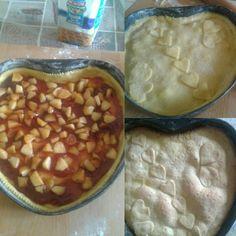 Cuor di mela. Guscio di pasta frolla ripieno di marmellata di prugne e mele caramellate.