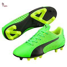 Puma Adreno III FG Jr, green gecko-Puma Black-safety yellow, 6 - Chaussures puma (*Partner-Link)