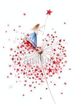 Nieuwjaarsbrief An Melis Jolie Photo, Whimsical Art, Christmas Art, Pretty Pictures, Cute Drawings, Cute Art, Watercolor Art, Fantasy Art, Illustration Art