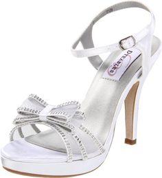 Dyeables Women's Pippa Platform Sandal,White Satin $71.99