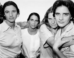 Nicolas Nixon's beautiful photo series of his wife and her three sisters - a portrait taken every year for 36 years.