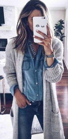 Super leuk zo'n groot en grof vest bij een mooi bloesje en een normale spijkerbroek! Leuk voor in de winter