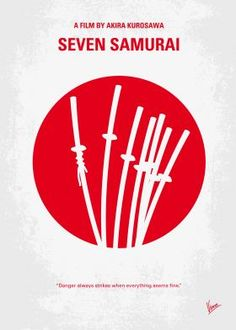 No200 My The Seven Samurai minimal movie poster  A poor village under attack by bandits recruits seven unemployed samurai to help them defend themselves.  Director: Akira Kurosawa Stars: Toshirô Mifune, Takashi Shimura, Keiko Tsushima  Seven, Samurai, Shichinin, veteran, bandits, Japan, Japanese, vintage,  minimal, minimalism, minimalist, movie, poster, film, artwork, cinema, alternative, symbol, graphic, design, idea, chungkong, simple, cult, fan, art, print, retro, icon, style, sale, gift,