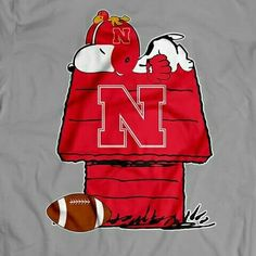 Snoopy. Go Big Red