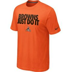 """Nike Men's Cleveland Browns """"Just Do It"""" Orange T-Shirt - Dick's Sporting Goods"""