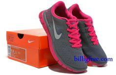 Billig Schuhe Damen Nike Free 4.0 V2 (Farbe:Vamp-grau,Logo-weiB,innenundSohle-pink) Online Laden.