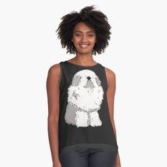 Old English Sheepdog, Tank Man, Art Prints, Printed, Awesome, Mens Tops, Products, Women, Fashion