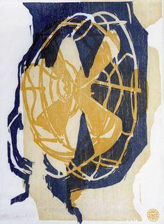 Sérgio Antunes Kal, 279, woodcut  3 colors – 3 blocks, Jappanese paper,  400 x 300mm  2011