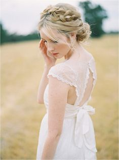 Gorgeous Lace Wedding Dress and Braid by Anna Campbell | Photo by Katie Grant