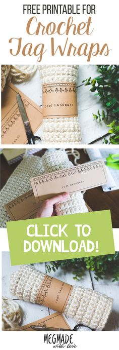 A Free Download for Crochet Tag Wraps — Crochet Labels Megmade with Love