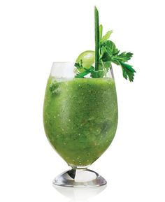 Tomatillos give this bloody mary—based on one served at Whist at the Viceroy Hotel in Santa Monica, California—its green hue.