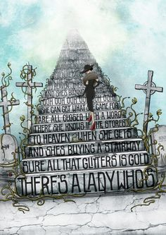 And she's buying a stairway to heaven...