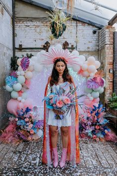 Pastel Wedding Theme, Wedding Colors, Wedding Styles, Foto Top, Balloon Installation, Event Styling, Festival Outfits, Bridal Looks, Dream Wedding