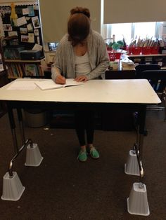 Organizing Chaos In The Classroom Use Bed Risers To Make A Standing - Furniture risers for desk