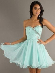 Prom Dress 2014, A-line Sweetheart Beading Sleeveless Short Mini Chiffon Cocktail Dress/Homecoming Dress on Etsy, $129.66