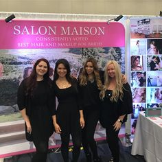 """Salon Maison (@salonmaisoninc) on Instagram: """"Come see us at the Bridecon Wedding Show tomorrow at the Anaheim Convention Center! Was so much fun…"""""""