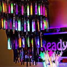 Get your glow on! Welcome the little monsters and their mummies with a glow-in-the-dark chandelier. Click the pic for more brilliant ideas!