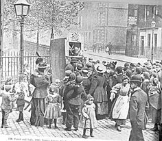 Punch and Judy in Trinity Square  London 1900