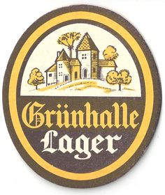 Gruhalle Vintage 70s Beer Mat
