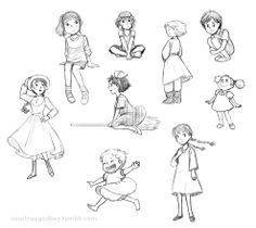 Pin by lisa cunningham on sketchbook in 2019 рисование фигур Cartoon Drawings, Cartoon Art, My Drawings, Character Drawing, Character Illustration, Illustration Art, Studio Ghibli Characters, Drawing Reference Poses, Drawing Poses