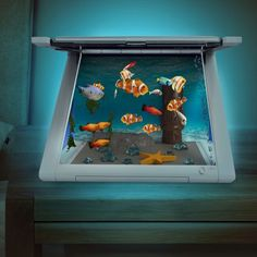 Aquarium Virtuel pour iPad et Station de Charge : Achat Cadeau Geek iPad sur Rapid-Cadeau.com