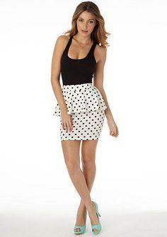 Juliet Peplum Skirt - full