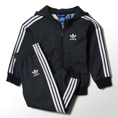 adidas - Hooded Flock Jeans Track Suit