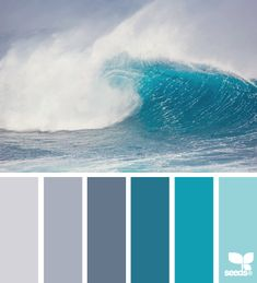 color wave: I looked and looked for a palette that matched the beautiful colors of the Caribbean the first time I saw it as I drove up to the ruins of Tulum along the east coast of the Yucatan peninsula of Mexico. This is the closest I found but it still doesn't capture the intensity and beauty of the colors of the sea.