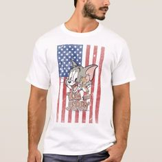 template t shirt - Customized - click/tap to personalize and buy Tom And Jerry, Classic Cartoons, Fitness Models, Toms, Shirt Designs, Templates, Casual, Sleeves, Mens Tops