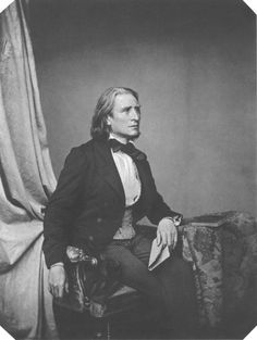 Franz Liszt, Austrian-Hungarian composer, still looking quite foxy at 47 in 1858. | My Daguerreotype Boyfriend
