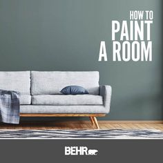 Elevate your interior space by giving your trim a simple and easy makeover with a new coat of paint. Click below to learn how to paint the trim like a professional and view other helpful how-to videos. Behr Paint Colors, Green Colour Palette, Color Palettes, Painting Trim, Interior Painting, White Sky, Purple Walls, Color Of The Year, Kitchen Colors