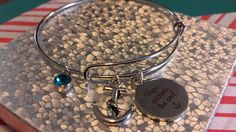 Anchor adjustable charm Bracelet by AdelaidsCreations on Etsy