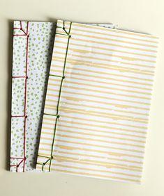 Handmade notebook design by japanese book binding, kangxi tutorial El yapımı defterler, japon defter dikme tekniği, kangxi şablonu