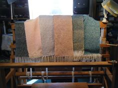 Handwoven scarves By Theresa Horman Rug Hooking & Woolen  creations