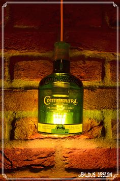 Connemare Whiskey Bottle Light Hängelampe Pendellampe von JealousDesign auf Etsy