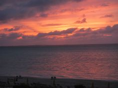 Sunset from the balcony of the Alexandra Resort in Turks and Caicos (by K. Gibson)