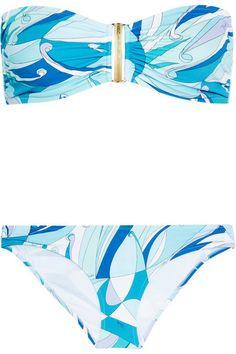 EMILIO PUCCI Fenice printed bandeau bikini