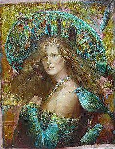 l mondo di Mary Antony: Sergey Lukyanov - surrealismo Pre Raphaelite, Russian Art, Fantastic Art, Woman Painting, Surreal Art, Print Pictures, Portrait Art, Beautiful Paintings, Figurative Art
