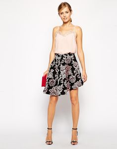 ASOS Premium Skirt with High Low Hem in Floral Jacquard - Went on a bit of an online shopping spree... oops
