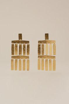 Roma Chandelier Earrings in Gold by ACB