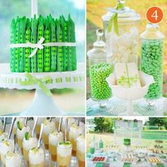 """""""Pea in a Pod"""" baby shower."""
