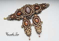 brown soutache set