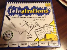 I enjoy family and group game nights.  This is a great group game to play and the telestrations are hilarious !