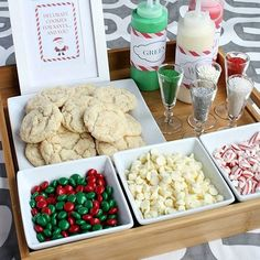 Christmas Cookie Decorating Station for kids or adults! Create a Christmas Cookie Decorating Station for your next holiday party! Perfect for kids and adults and Santa will love them! Christmas Pajama Party, Christmas Cocktail, Christmas Brunch, Christmas Party Decorations, Christmas Fun, Christmas Eve Box Ideas Kids, Christmas Projects, Christmas Events, Toddler Christmas