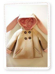 Kinderjas Konijn - Bunny Coat: don't have any kids, but I think this coat is ADORABLE!
