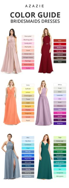 A brides best friend! Azazie offers 70 colors for you to choose from, We also provide more than 400 trendy styles for you to choose from. Available in full size range and free custom sizing. Chic Wedding, Perfect Wedding, Our Wedding, Dream Wedding, Rustic Wedding, Wedding Advice, Wedding Stuff, Wedding Bridesmaid Dresses, Wedding Gowns