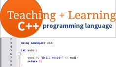 Learn to program in C++ Learn C, Learn To Code, C Programming, Programming Languages, C Tutorials, Coding, Teaching, Education, Programming