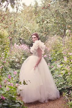 Dreamy tulle wedding dress, from 'A Secret Garden' photoshoot on www.lovemydress.net // Photography by http://www.sarahgawler.co.uk/, styling by http://www.eburyhomeandgarden.com/stillsproductionandstyling.html