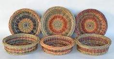 willow fruit baskets by Katherine Lewis at dunbargardens.com Wedding Anniversary, Anniversary Gifts, Basket Weaving, Gift Baskets, Rattan, Fiber Art, Fruit, Handmade, Hampers